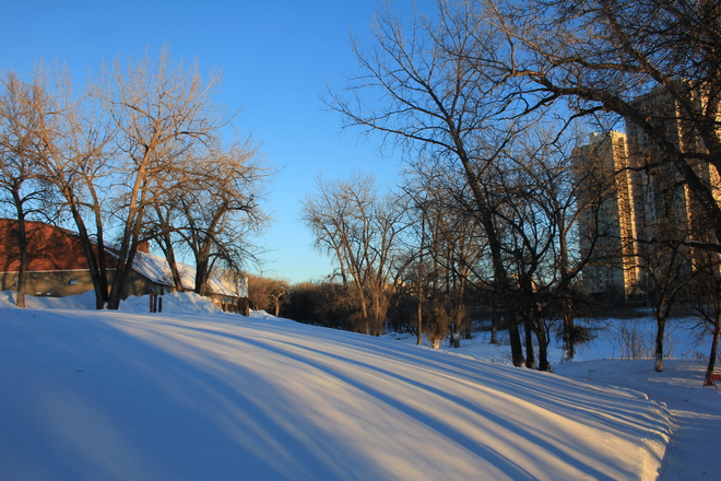 Blue Skies Winnipeg, Manitoba Canada