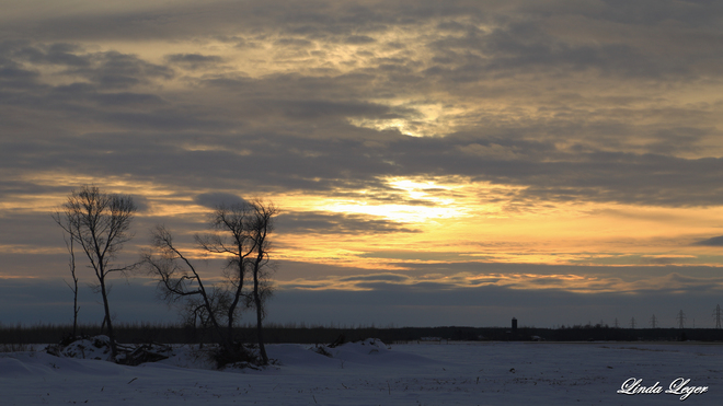 Late Afternoon Skies Libau, Manitoba Canada