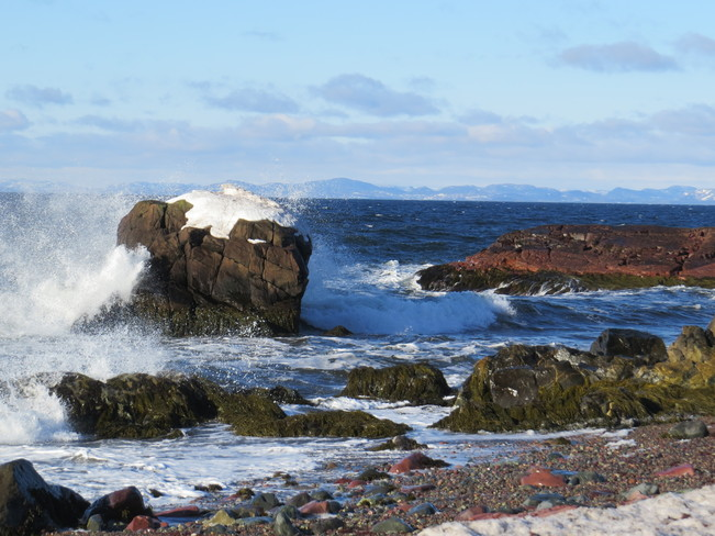 waves hitting the shore Garnish, Newfoundland and Labrador Canada