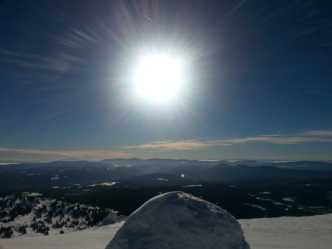 Amazing sun at Big White ski resort Kelowna, British Columbia Canada