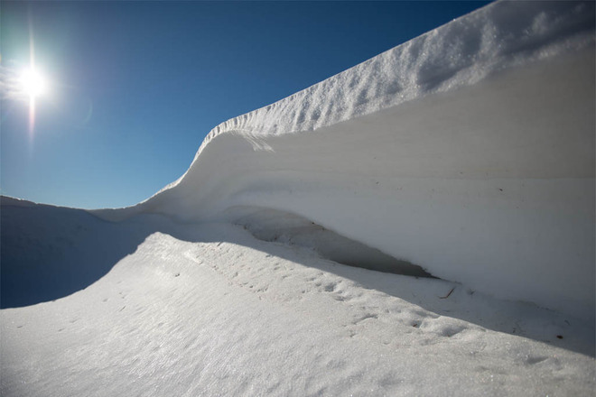 Disappearing Snowdrifts Lethbridge, Alberta Canada