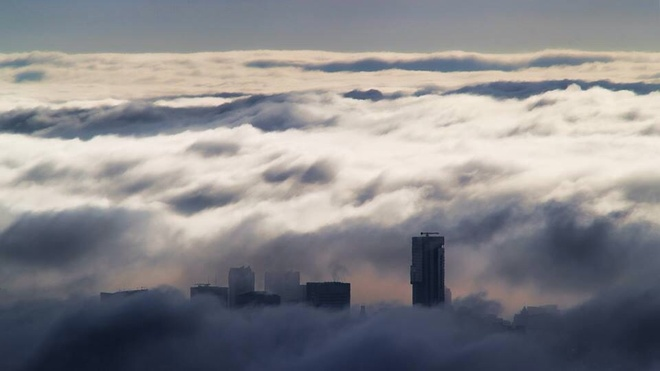 Temperature Inversion Vancouver, British Columbia Canada