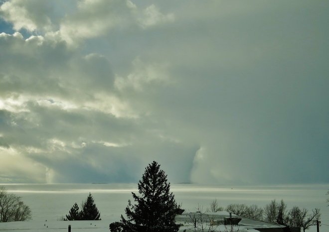 Squall wall to the left, squall wall to the right! North Bay, Ontario Canada