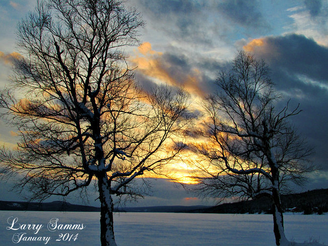 """Sunset Jan 20 2014"" Springdale, Newfoundland and Labrador Canada"