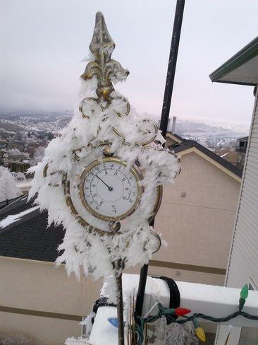 Frosty Thermometer Kamloops, British Columbia Canada