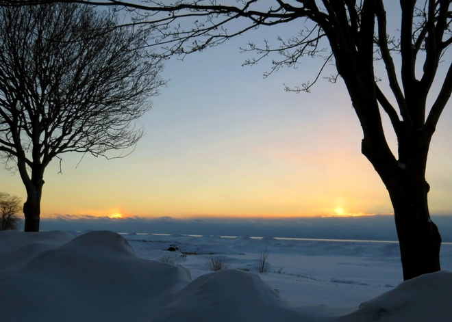 A DOUBLE sunset tonight! Goderich, Ontario Canada