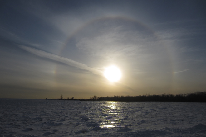 Sun Dog at Cherry Beach Toronto, Ontario Canada