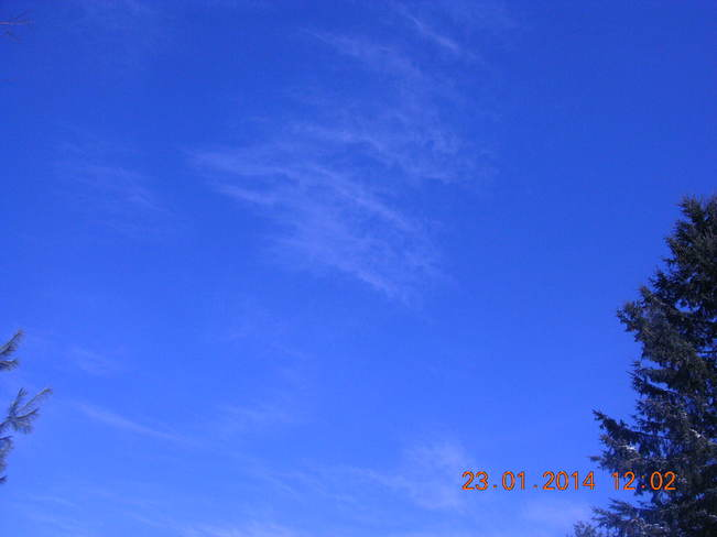 Clear and blue hardly a cloud Salisbury, New Brunswick Canada