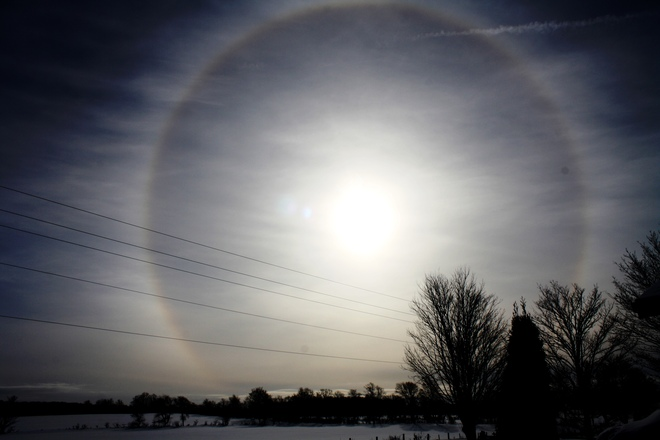 Sun Dog Feversham, Ontario Canada