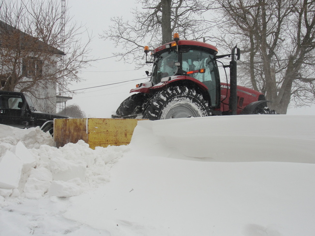 Forget about the snow shovel! Fenwick, Ontario Canada