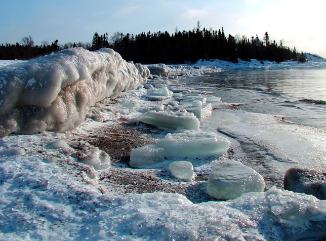 Shoreline Ice Terrace Bay, Ontario Canada