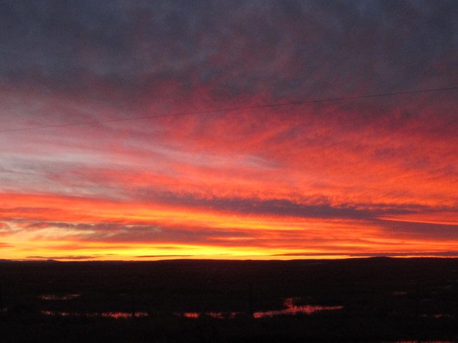 Fire in the Sky Maple Creek, Saskatchewan Canada