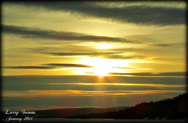 """Sunset over West Pond"" Springdale, Newfoundland and Labrador Canada"