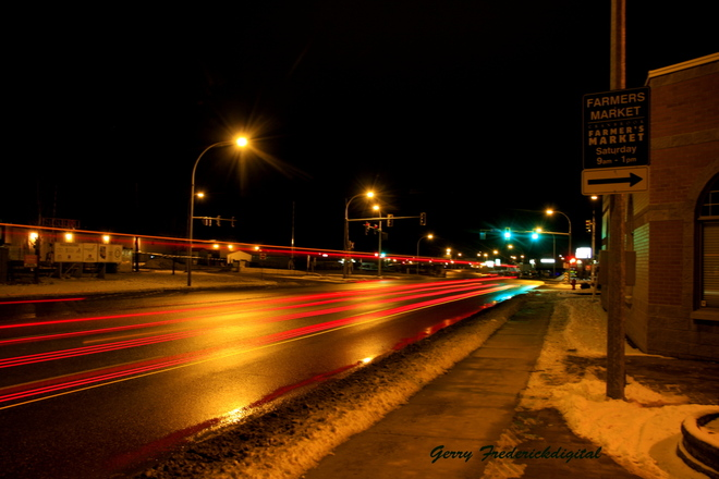 3.2 sec night photo Cranbrook, British Columbia Canada