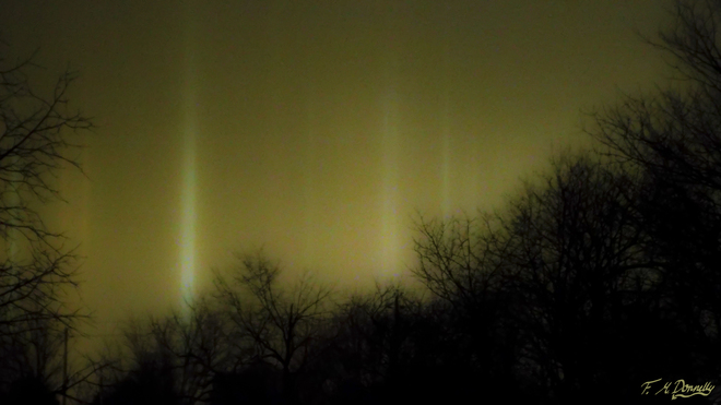 Night Time Light PIllars Smiths Falls, Ontario Canada