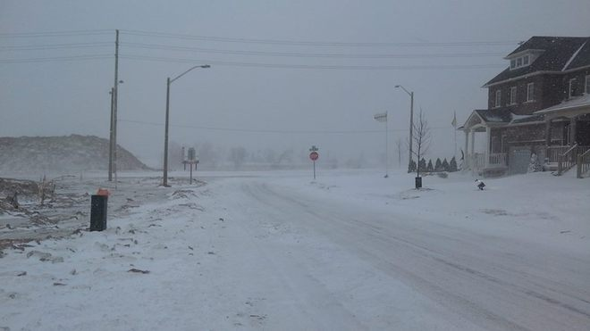 Snow Storm Icey Roads! Bowmanville, Ontario Canada