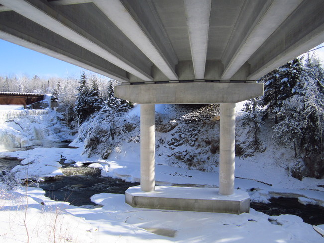 under bridge Temperance Vale, New Brunswick Canada
