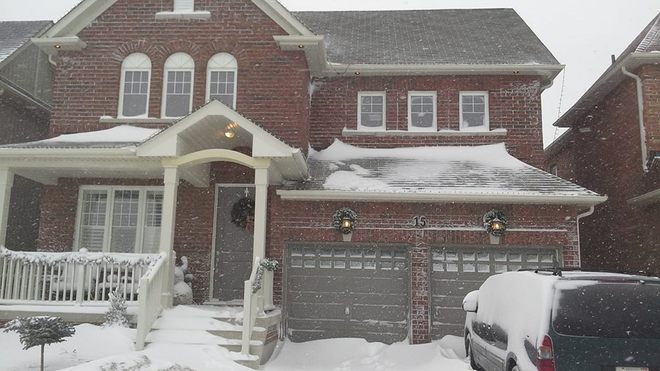 Snowed In At Our House! Bowmanville, Ontario Canada