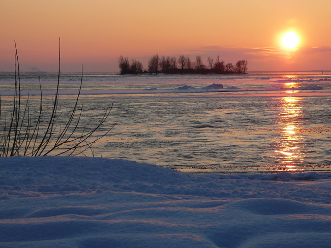 Chilly sunset Lachine, Quebec Canada