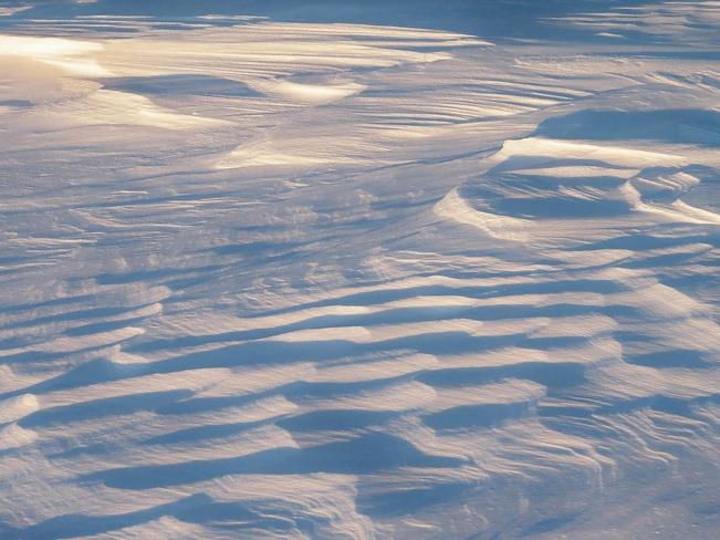 Snow waves in Silver Beach Park. North Bay, Ontario Canada
