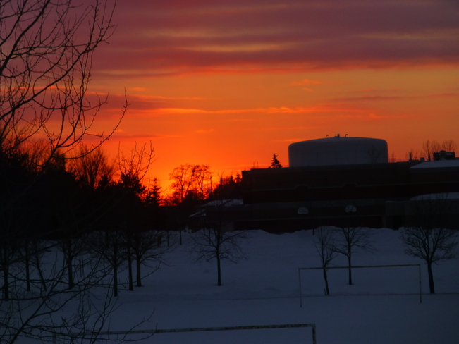 Sunset on a cold day- Waterloo, Ontario Canada