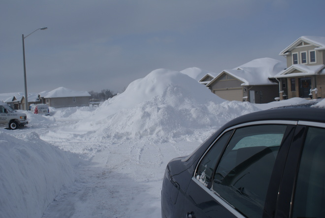 No more room for snow! Belleville, Ontario Canada