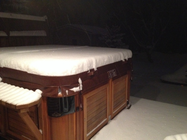 hot tub snow Clarenville, Newfoundland and Labrador Canada