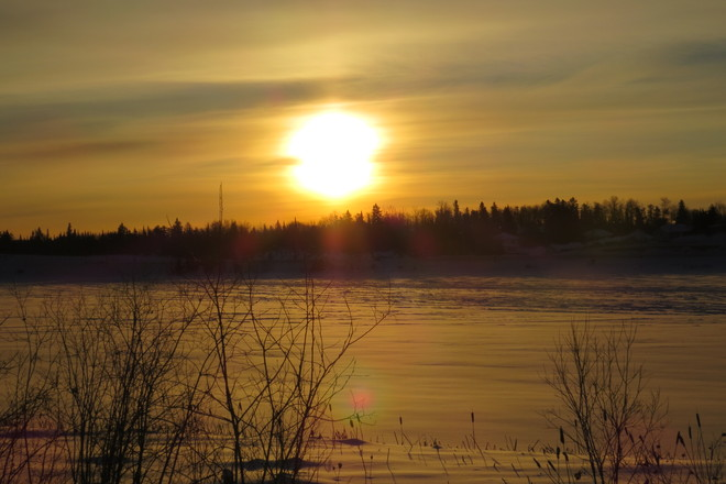 cold morning Timmins, Ontario Canada
