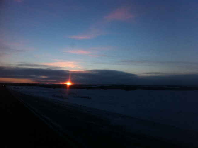 sunset Brandon, Manitoba Canada