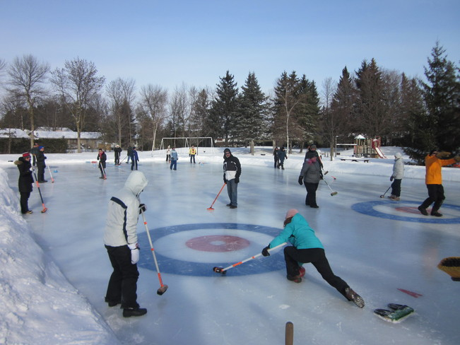 Outddoor Curling in Lakeview Park Ottawa, Ontario Canada