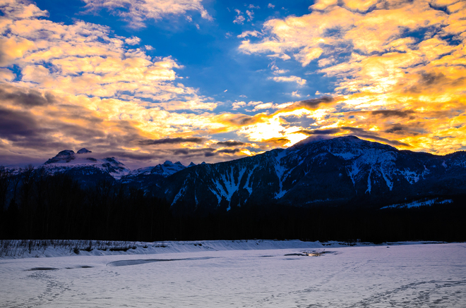 sunset Revelstoke, British Columbia Canada