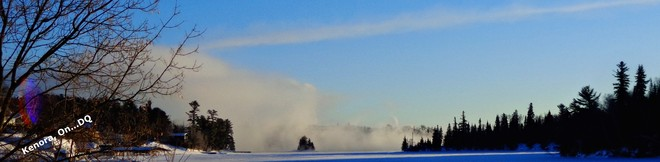 Steaming Open Waters...Cold Temps Kenora, Ontario Canada