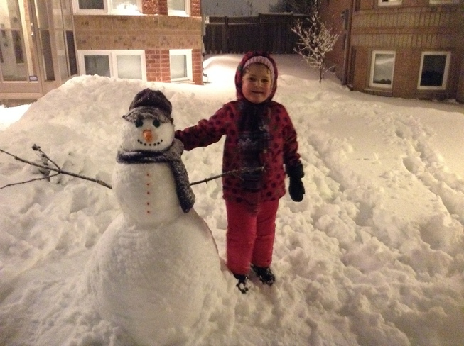Snowmen with my daughter
