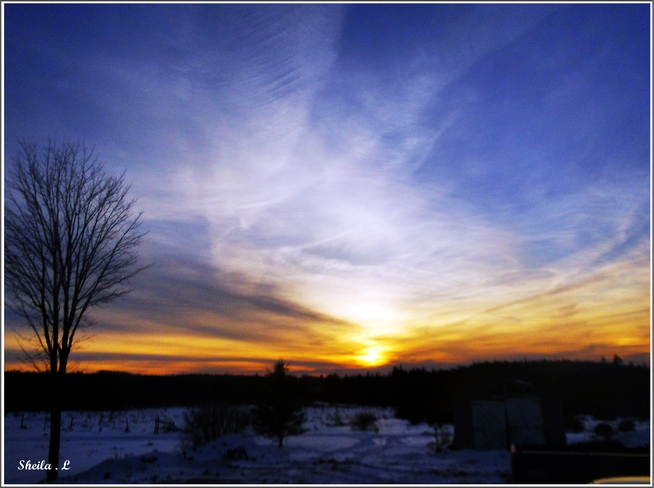 Feb. Sunset Canning, Nova Scotia Canada