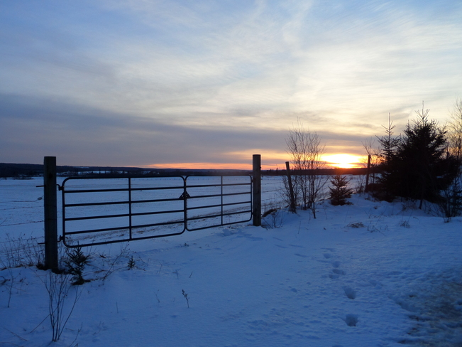 Gated Sunset :) Upper Stewiacke, Nova Scotia Canada