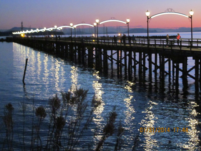 Whiterock Pier Sunset White Rock, British Columbia Canada