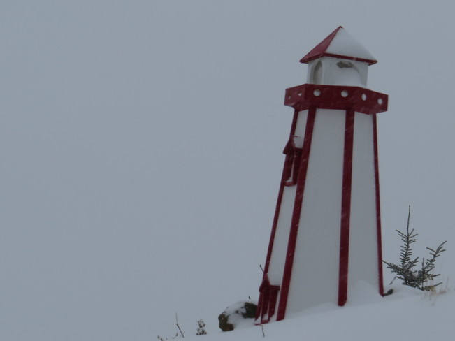 light House in the snow Rock Harbour, Newfoundland and Labrador Canada