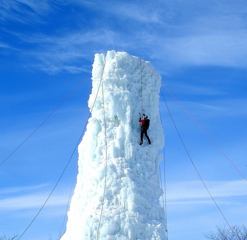 CLIMBING THE ICE TOWER Winnipeg, Manitoba Canada