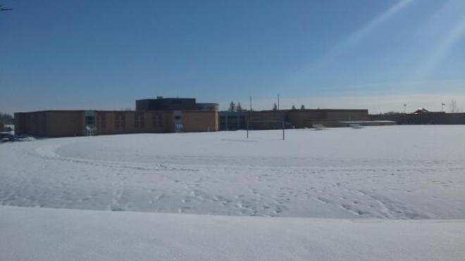 Clarington Central Has A Whole Crap Of Snow And Ice! Bowmanville, Ontario Canada