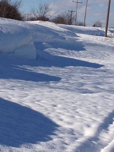 Snow Drifts Wellington, Ontario Canada
