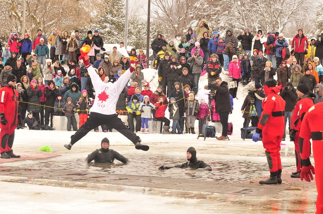 polar plunge Peterborough, Ontario Canada