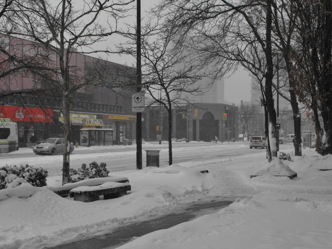 Downtown Windsor covered in snow Windsor, Ontario Canada