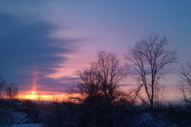 Sunset after the storm Claireville, Ontario Canada
