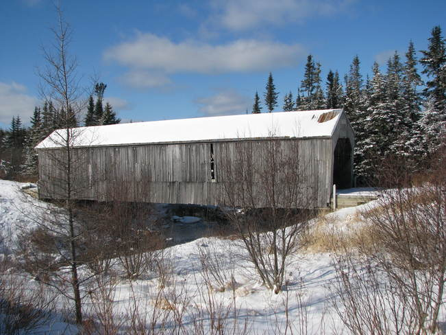 The covered bridge Lepreau, New Brunswick Canada