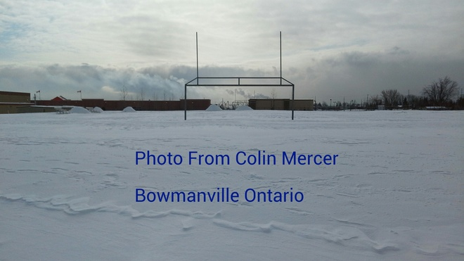 Ice Rink At School!! Bowmanville, Ontario Canada