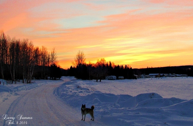 """Sunrise and Leka"" Springdale, Newfoundland and Labrador Canada"
