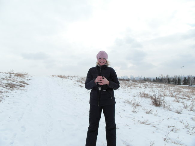 Whatever mother nature brings.Enjoying a walk at nose hill park Calgary, Alberta Canada