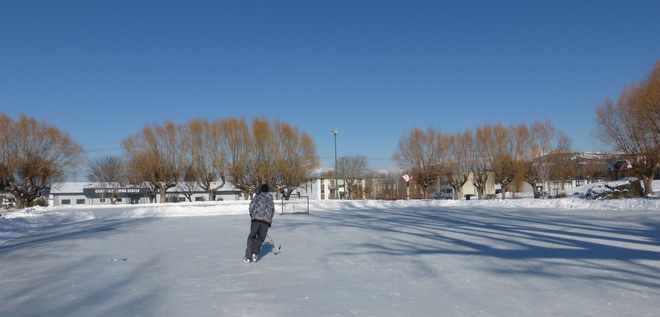 THE WHOLE RINK TO HIMSELF Cranbrook, British Columbia Canada