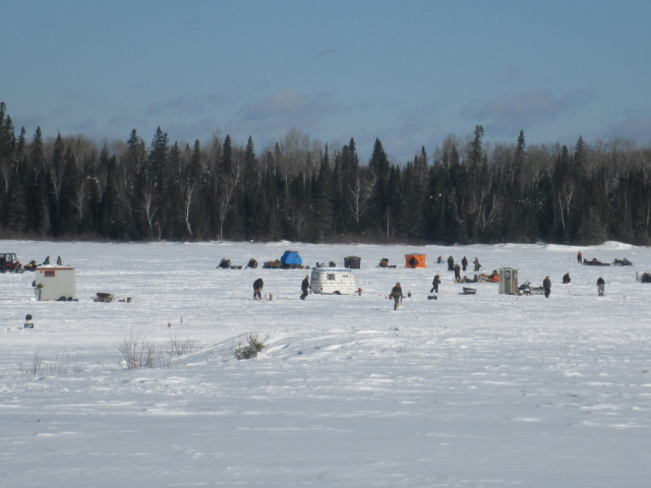 ice fishing derby today Chapleau, Ontario Canada