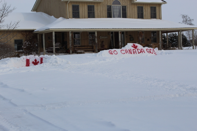 Finally, something worthwhile to do with the snow! Lucan Biddulph, Ontario Canada